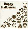 Happy halloween greeting card with effect overlay vector image vector image