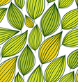 Seamless floral pattern green leaves seamless vector image