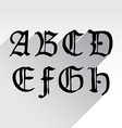 Ghotic letters vector image