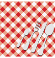 gingham menu card vector image