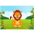 cartoon cute lion vector image