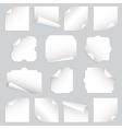 paper curls vector image