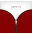 Abstract Background With Golden Metallic Zipper vector image