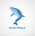 BLUE WHALE LOGO SIGN vector image