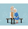Happy senior couple Cartoon vector image