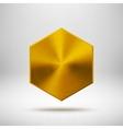 Gold Abstract polygon Button Template vector image vector image