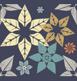 autumn pattern with modern flowers vector image