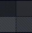 Carbon fiber seamless patterns vector image