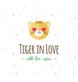 cartoon tiger head logo Flat logotype vector image