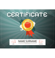 Certificate Template - Layout vector image