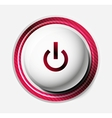Color power button vector image