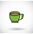 Cup icon with round shadow vector image
