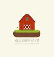 Farm red barn vector image