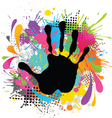 hand print and paint vector image