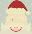 Happy Santa Claus with snow background vector image