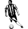 soccer player sketch vector image