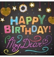 Sweet Happy Birthday card vector image