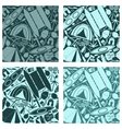 The tourist equipment Seamless pattern vector image
