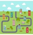 Urban landscape of community vector image