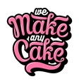 Hand drawn bakery lettering vector image