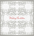 invitation card floral template vector image