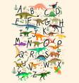 abc dinosaurs vector image