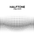 Black Abstract Halftone Design Element vector image vector image