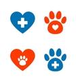 veterinarian icons set vector image