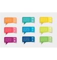 set of colorful paper stickers bubbles vector image