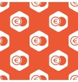 Orange hexagon euro coin pattern vector image vector image