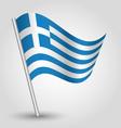 flag greece vector image