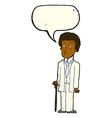 cartoon unhappy gentleman with speech bubble vector image