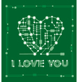 banner from abstract drawing in form heart vector image
