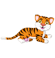 Cute tiger cartoon posing vector image
