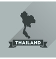 Flat icon with long shadow Thailand map vector image