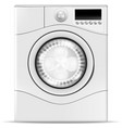 a realistic washing machine vector image