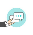 icon of dialog messages vector image