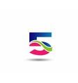 Logo number 5 design template vector image