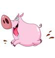 pig running vector image