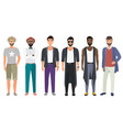 stylish handsome men dressed in modern casual vector image