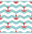Tile sailor summer pattern with red anchor vector image