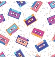 Retro cassette in flat style Set of vector image