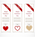 Paper banners for valentines day vector image