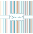 Striped colorful greeting card vector image vector image