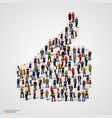 group of people in thumb form vector image