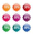 Percent labels vector image vector image