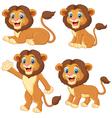 Cartoon lion collection set vector image