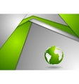 Tech corporate green grey background vector image