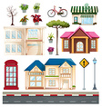 Buildings and things we see on the street vector image