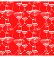 flower pattern red vector image
